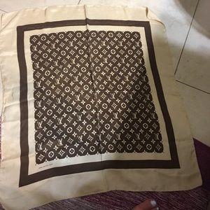 Authentic vintage Louis Vuitton silk scarf.